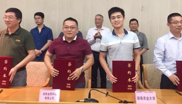 Kinglv and Hunan Agricultural Universitys Production-Study-Research Cooperation Achieves Full Success